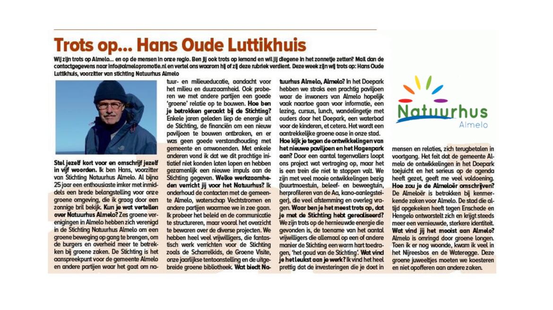 Gespot in het Almelo's Weekblad: Hans Oude Luttikhuis